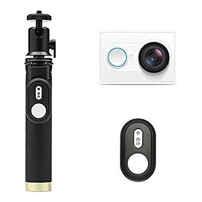 Caméra sportive Yi 2K (Noire ou Blanche - 16 Mpix) + Perche à selfies + Télécommande Bluetooth (Vendeur tiers)