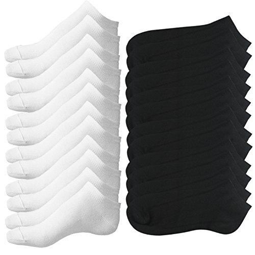 Lot de 12 paires de Sockets pour Femme - Noir et Blanc (Vendeur tiers)