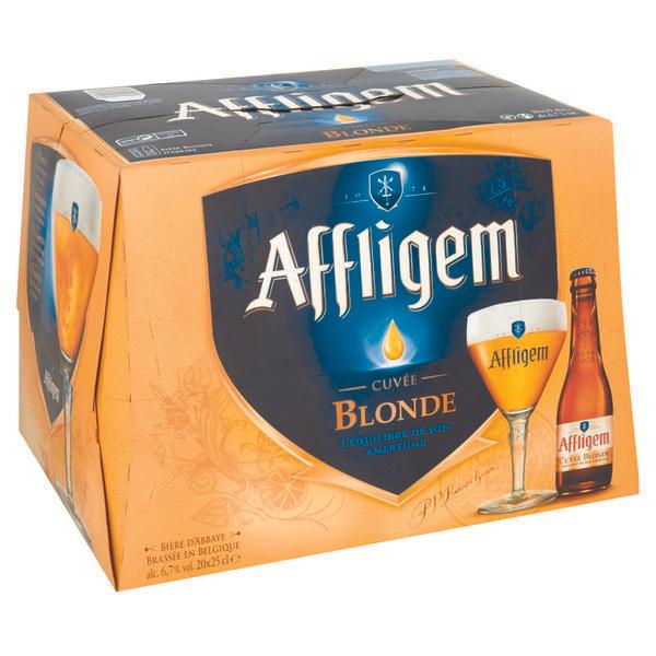 Pack de 20 bières blondes Affligem - 25 cl (via 8.82€ sur la carte de fidélité)