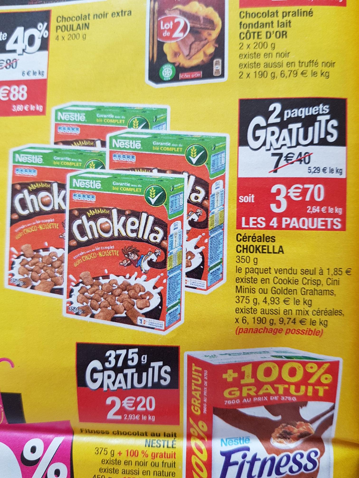 [Panachage possible] Lot de 4 boîtes de céréales Nestlé - 350 g, différents types