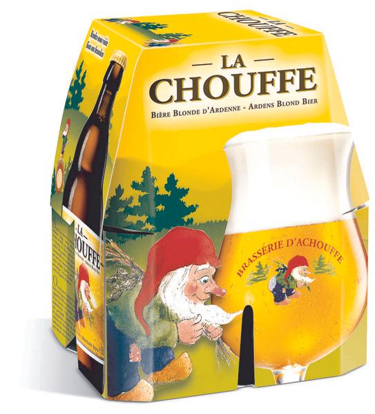 Lot de 4 Bières Blondes La Chouffe - 4 x 33cl