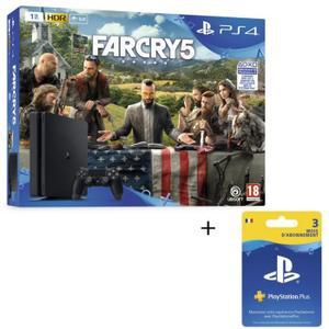 Pack console Sony PS4 Slim (1 To) + Far Cry 5 + abonnement de 3 mois au PS Plus