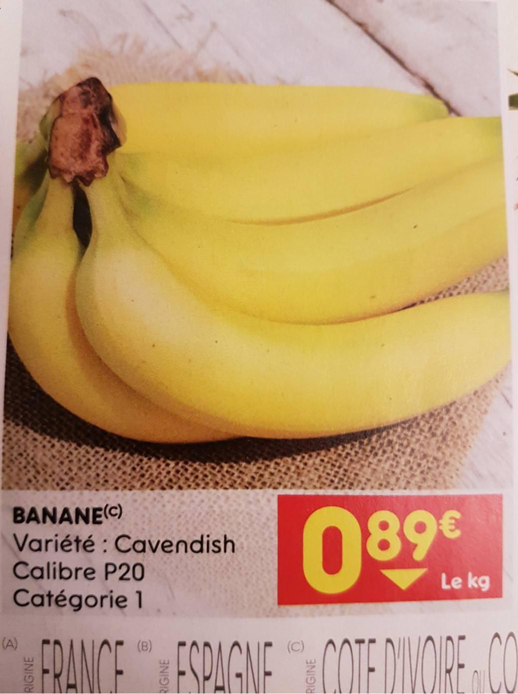 Banane Cavendish - 1Kg