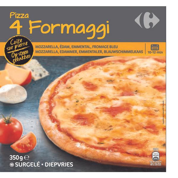 Pizza Carrefour 4 Fromages Cuite sur Pierre (Via 1.27€ sur la Carte de Fidélité)
