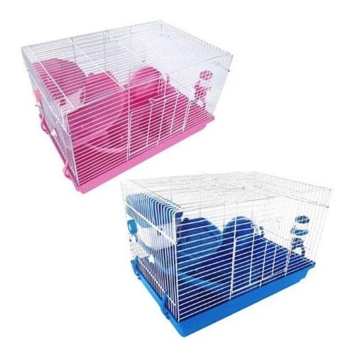 Cage à rongeur - ( de transition )  30 x 30 x 47cm, Bleu ou Rose
