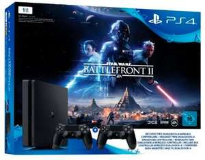 Pack Console PS4 Slim (Noir) - 1 To + 2ème Manette + Star Wars Battlefront 2 (Frontaliers Suisse)