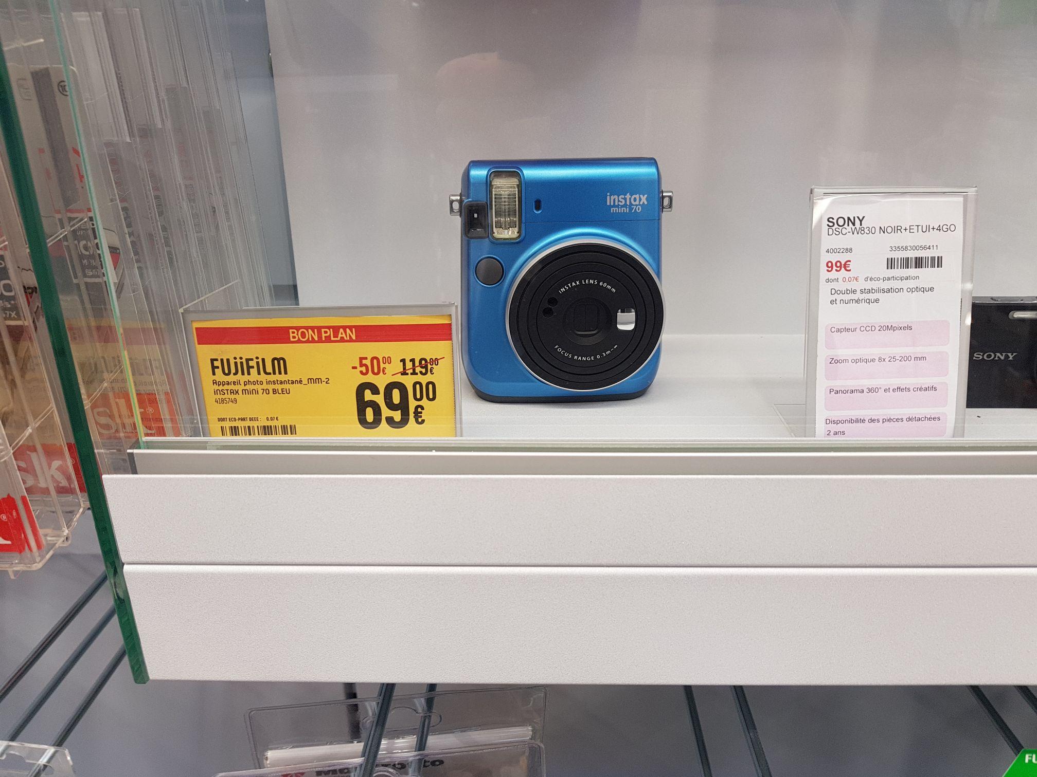 Appareil photo Instantané Fujifilm Instax Mini 70 - Bleu