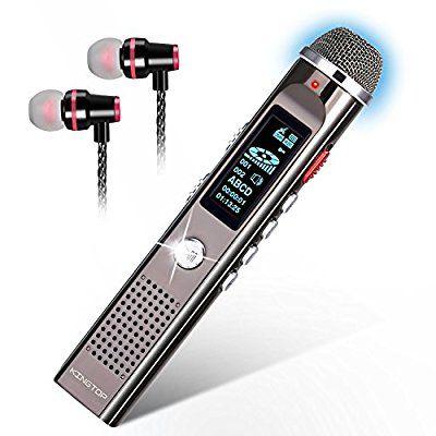 Dictaphone Numérique Portable/Radio FM/Lecteur MP3 Kingtop - Argent, 8Go (vendeur tiers)