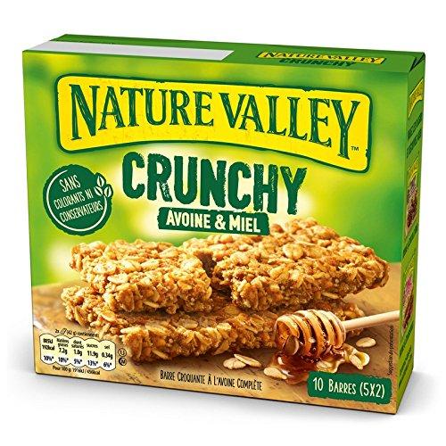 5 Paquets de 10 Barres de Céréales Nature Valley Crunchy Avoine & Miel