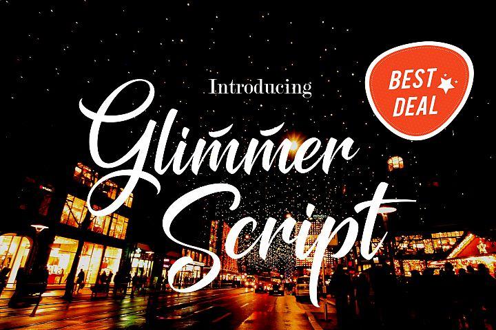 """Police d'écriture """"Glimmer Script"""" gratuite"""