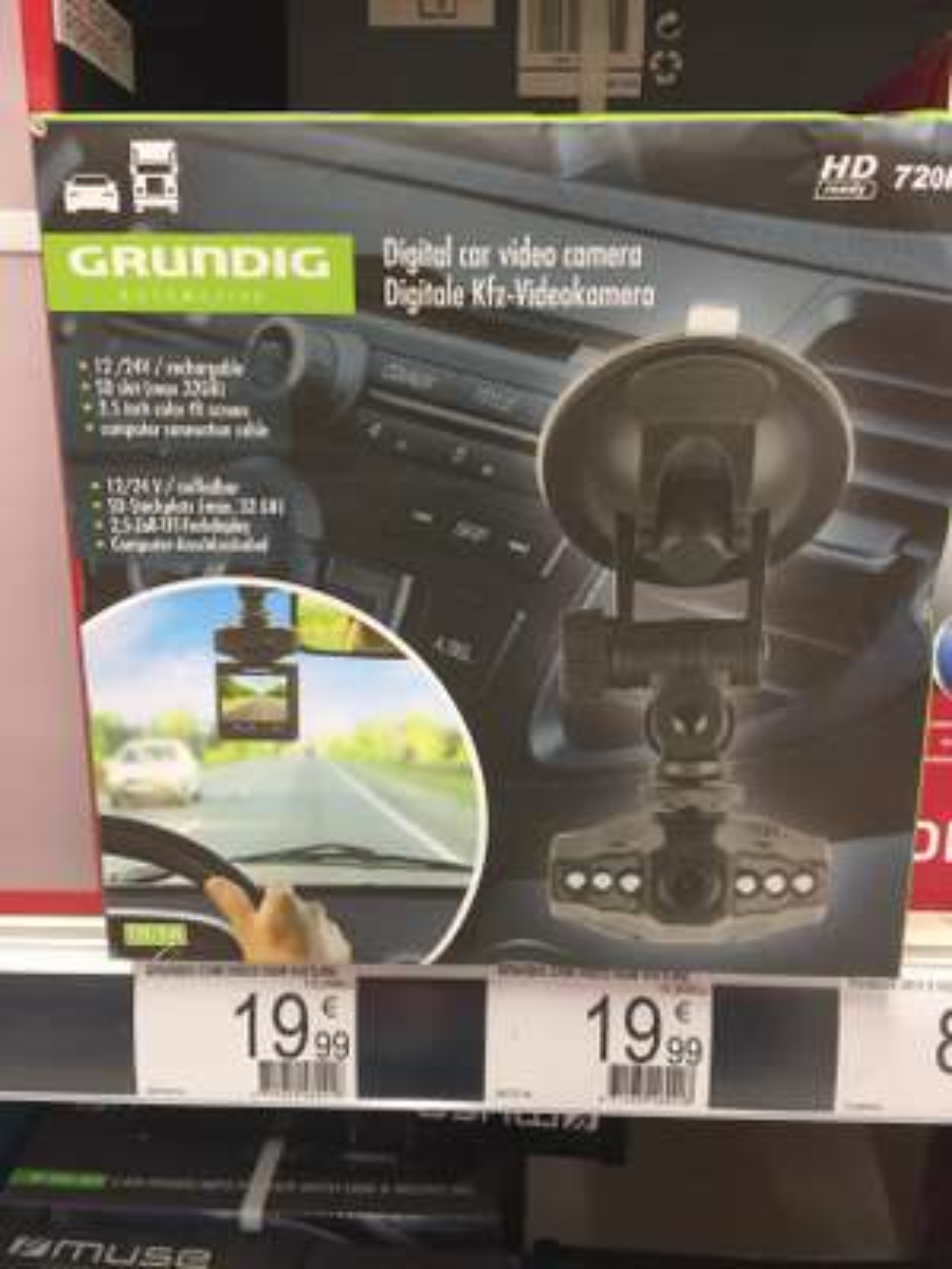 Caméra Dashcam Grundig 46921 HD 720p - Auchan Plaisir (78)