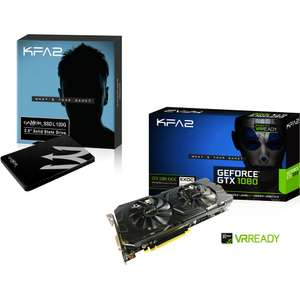 "Carte graphique KFA2 GeForce GTX 1080 EX-OC (8 Go) + SSD interne 2.5"" KFA2 Gamer L S11 (120 Go)"