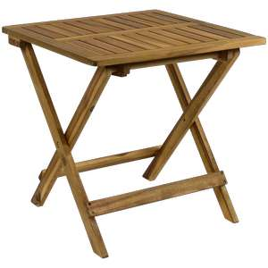 Table d'appoint Pliable Wiston en Bois d'acacia - 45 x 45 x 45cm