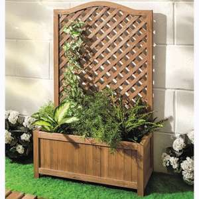 Jardinière avec treillage Garden Feelings - 100x60x28 cm