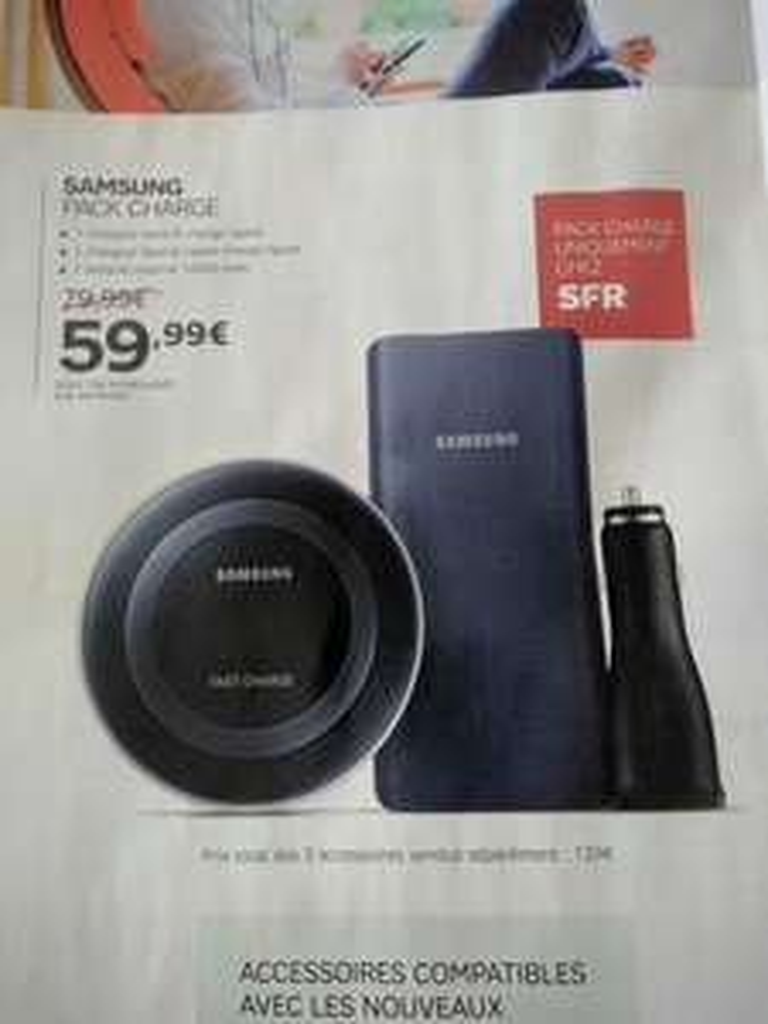 Sélection d'accessoires SFR en promotion - Ex: Pack de recharge Samsung (via 20€ ODR)