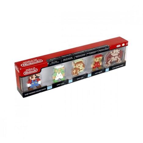Pack de 5 Mini figurines Nintendo Rétro 8 Bits (via 0,50€ sur la carte Waaoh )