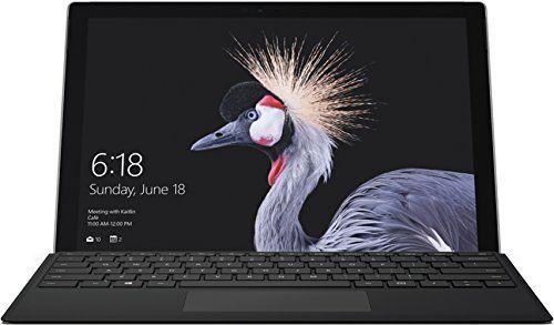 """Tablette 12.3"""" Microsoft Surface Pro 2017 (Intel Core M3, SSD 128Go, mémoire RAM 4Go, HD Graphics 515, Win 10Pro) Noir + Surface Pro type Cover noir (sans surface Pen) - OCCASION à partir de"""