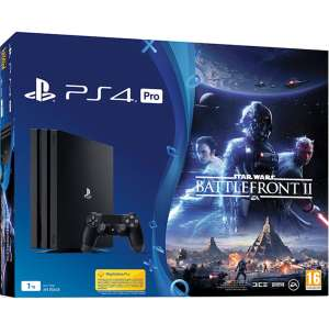 Pack console Sony PS4 Pro (1 To) + God of War + Star Wars Battlefront II (Frontaliers Belgique)