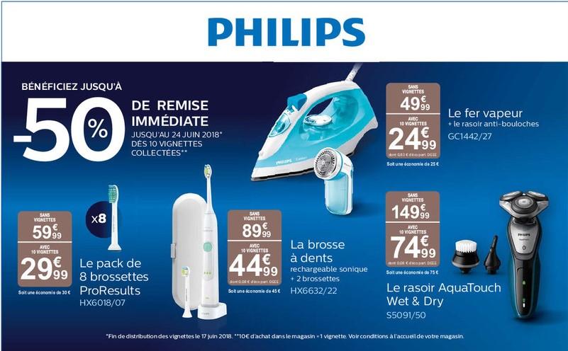 [Vignettes Carrefour] Jusqu'à 50% de réduction sur une sélection de produits Philips - Ex: tondeuse à barbe QT4005/15