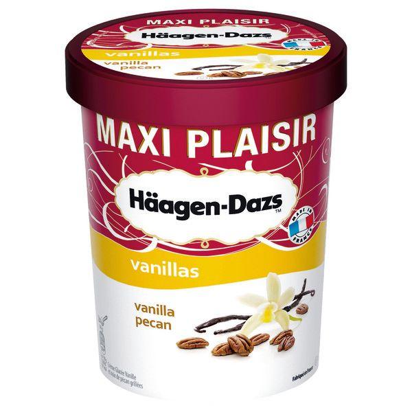 Pot de glace Haagen-Dazs Maxi Plaisir 567g - Différentes Variétés (via BDR et 3.15€ sur la carte)