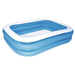 Piscine gonflable Deluxe bleue rectangulaire - 211 x 132 x 46 cm