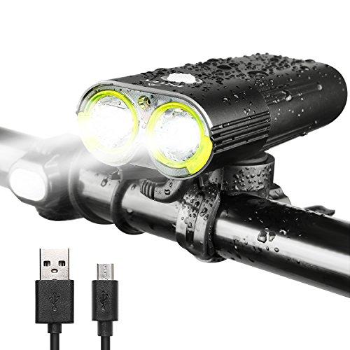 Lampe pour Vélo LED Intey - Rechargeable via USB, 1600 Lumens, Étanche (Vendeur tiers)