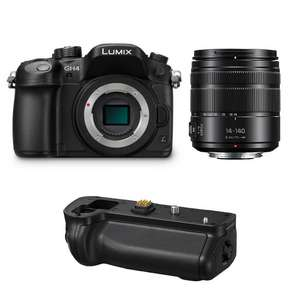 Appareil photo Hybride Panasonic Lumix DMC-GH4R + Objectif 14-140mm Power OIS + Batterie Grip DMW-BGGH3