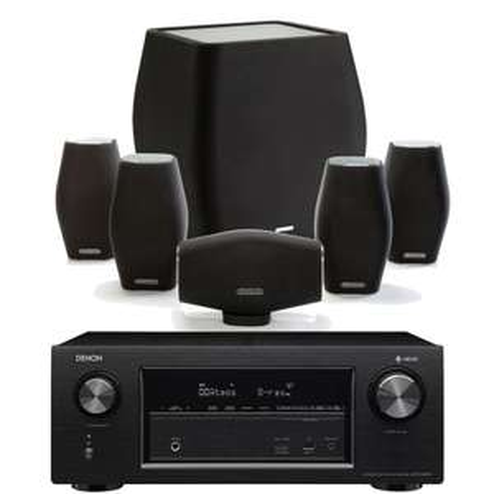 Ampli Denon AVR-X2400H + Enceintes Monitor Audio Mass 5.1