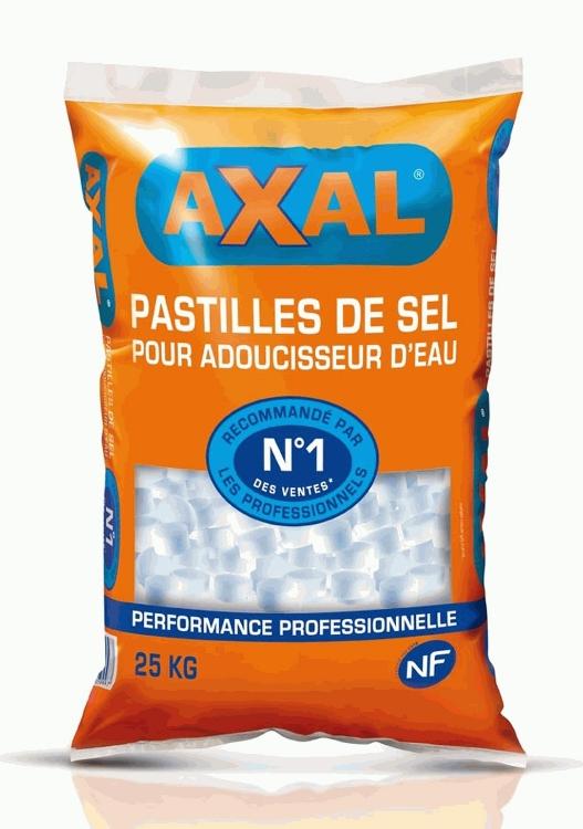 Sac de pastilles de sel pour adoucisseur d'eau de piscine Axal - 25 kg