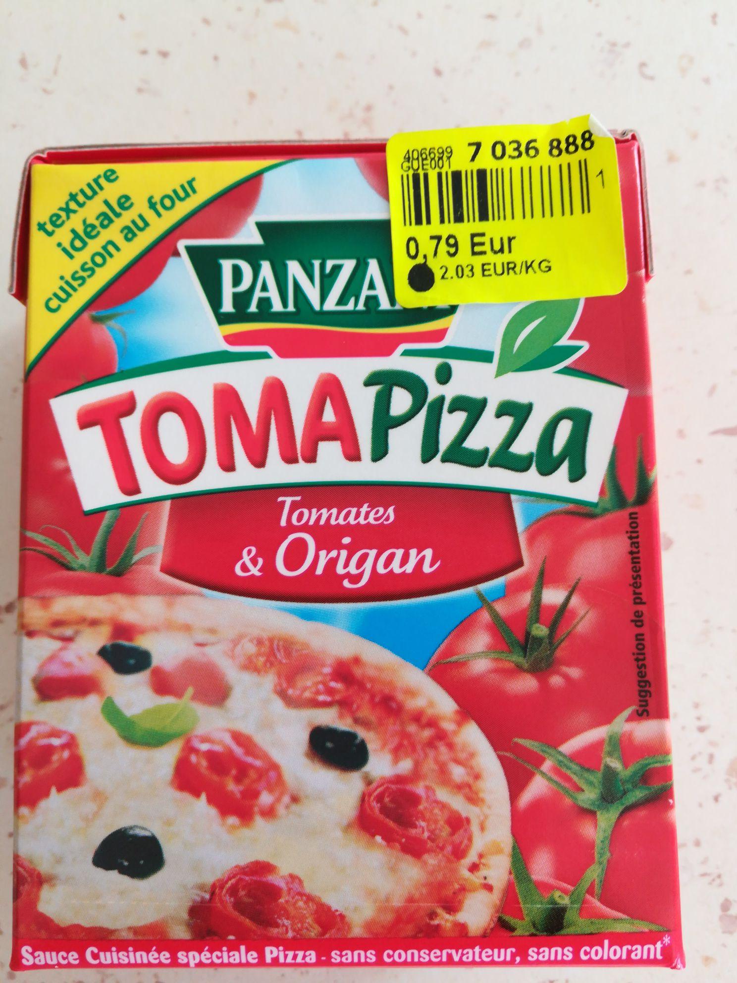 Préparation pour pizza Panzani TomaPizza Tomates & Origan (39 g) - Creuzier-le-Vieux (03)