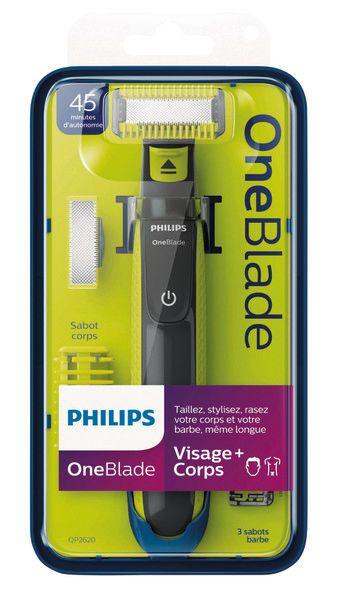 Rasoir Philips OneBlade Visage et Corps (Via 31.43€ sur la Carte de Fidélité)