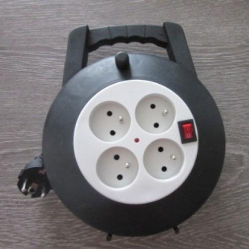 Enrouleur électrique 4 prises - 5m
