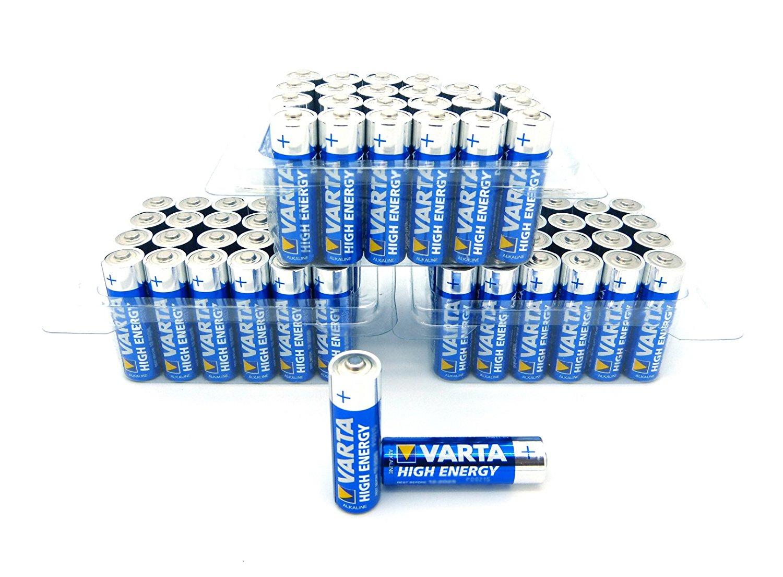 Lot de 72 Piles Alcalines Varta High Energy MN1500 AA - LR6