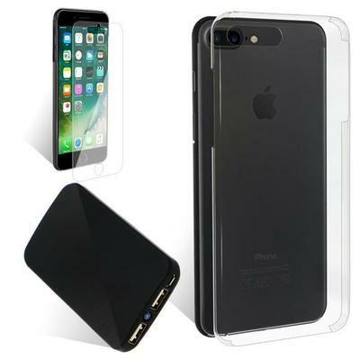 Sélection de packs Exopack pour Smartphone : Coque + Verre trempé + Powerbank ou Enceinte Bluetooth ou Casque - Ex : Pour iPhone 7 Plus