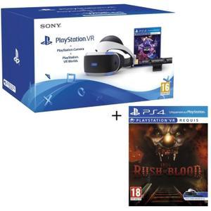 Casque de réalité virtuelle PlayStation VR (CUH-ZVR2) + Caméra + VR Worlds + Until Dawn