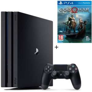 Pack Console Sony PS4 Pro 1 To (Noir ou Blanc) + God of War