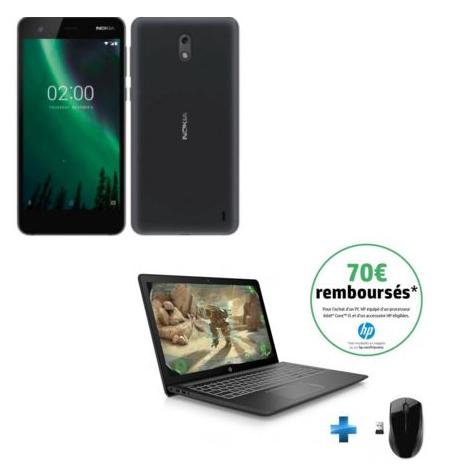 """Smartphone 5"""" Nokia 2 offert dès 400€ d'achat sur tout le site - Ex : PC Portable 15.6"""" HP Pavilion Power 15-CB016NF - Full HD, i5-7300HQ, 1 To, RAM 4 Go, GTX 1050 2 Go + Souris + Nokia 2 (via ODR de 70€)"""