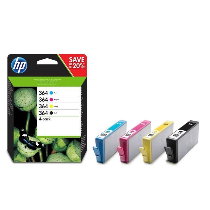 [Carte bancaire Casino - de 11h à 13h et à partir de 17h] Sélection de cartouches d'encres HP en promotion - Ex : lot de 2 packs de 4 cartouches HP 364 C/J/M/N (via 37,90€ en bon d'achat)