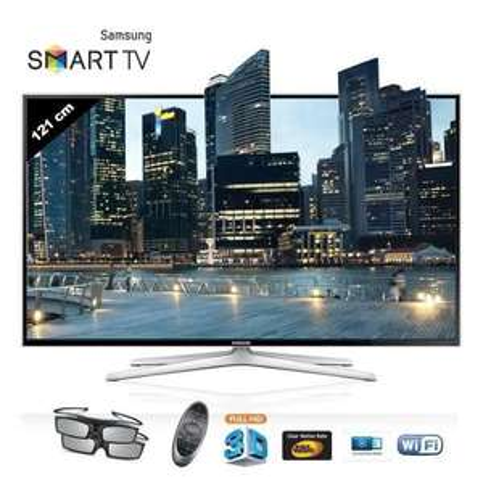 "TV 48"" Samsung UE48H6400 - Smart TV, 3D  (-10% Code promo / 49,86€ en Bon d'achat)"