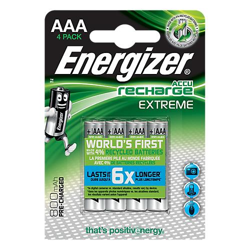 2 articles achetés = le 3ème offert sur une sélection de piles rechargeables Energizer - Ex: 3 paquets de 4 piles Energizer Recharge Power Plus 9V