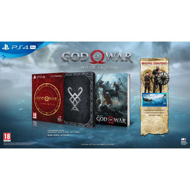 Jeu God of War sur PS4 - Edition Limitée