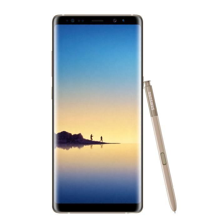 """10% de réduction sur une sélection de smartphones Samsung - Ex : 6.3"""" Samsung Galaxy Note 8 (Simple SIM, Or ou Bleu)"""