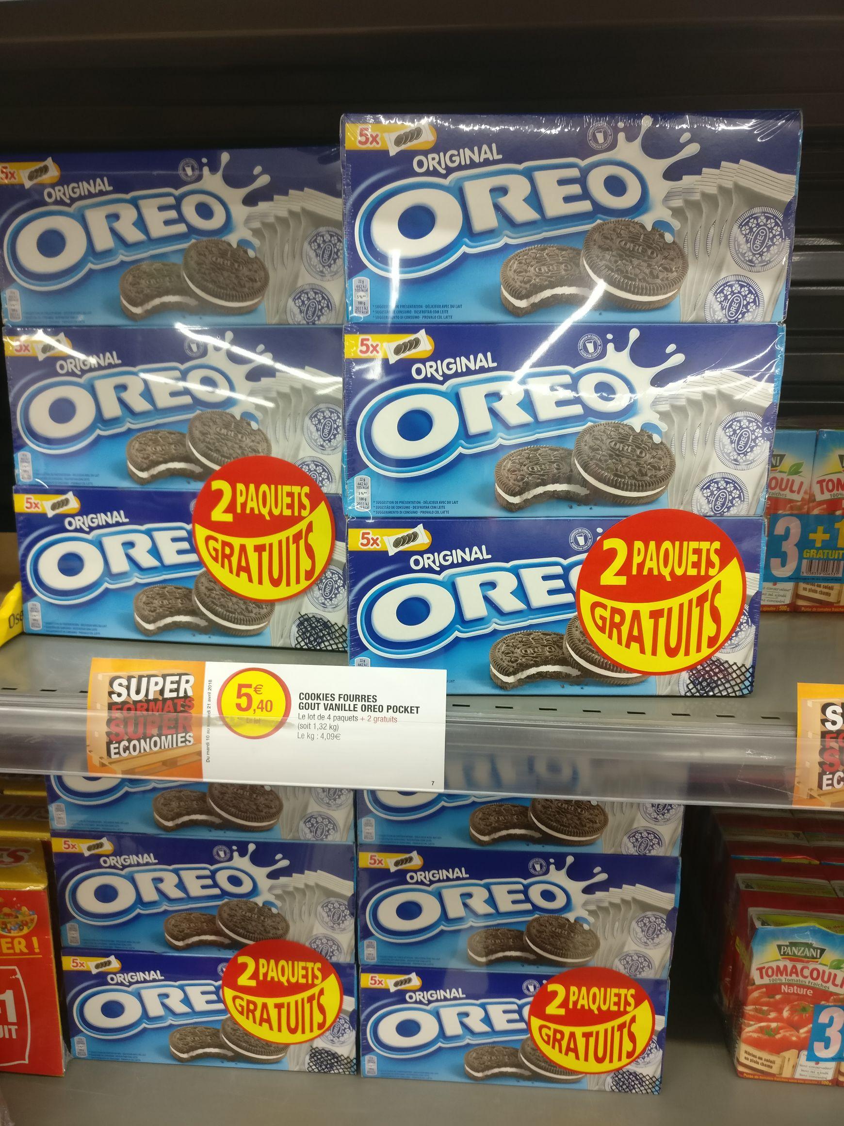 Lot de 6 paquets de biscuits Oreo - Super U Molsheim (67)