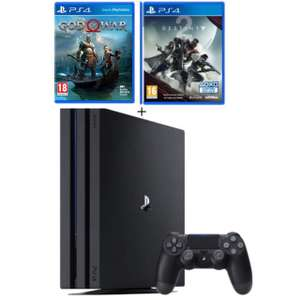 Console Sony PS4 Pro 1 To (Noire) + God of War + Destiny 2 + Artbook exclusif (+40€ en bon d'achat pour 400€)