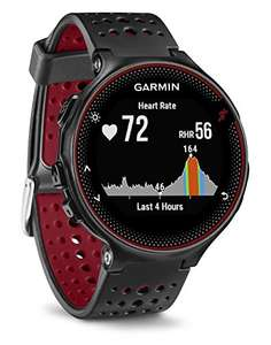 Montre GPS Garmin Forerunner 235 (Capteur cardio intégré) - Noir / Rouge