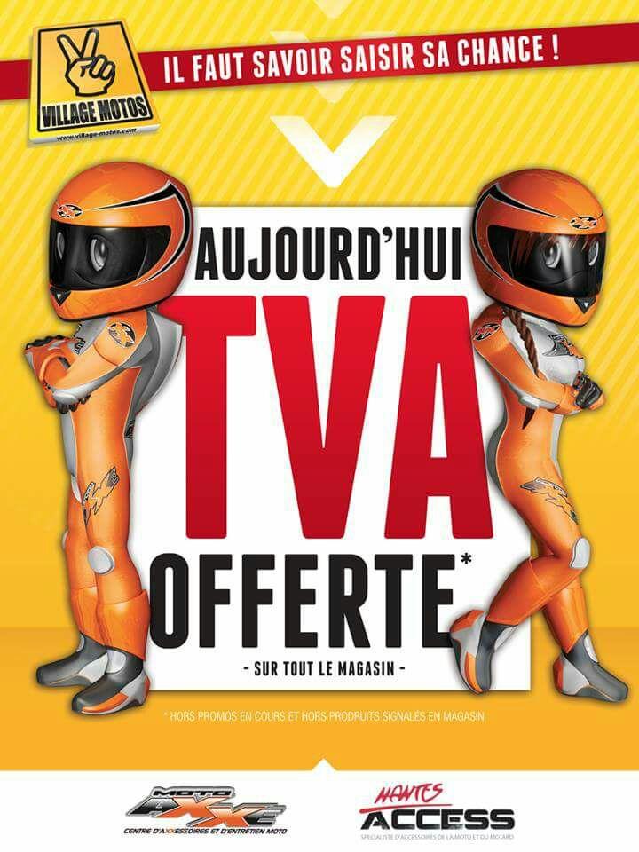 TVA offerte (~16.67% de réduction) sur tout le magasin (Hors exceptions et promotions) - Moto Axxe Orvault (44)