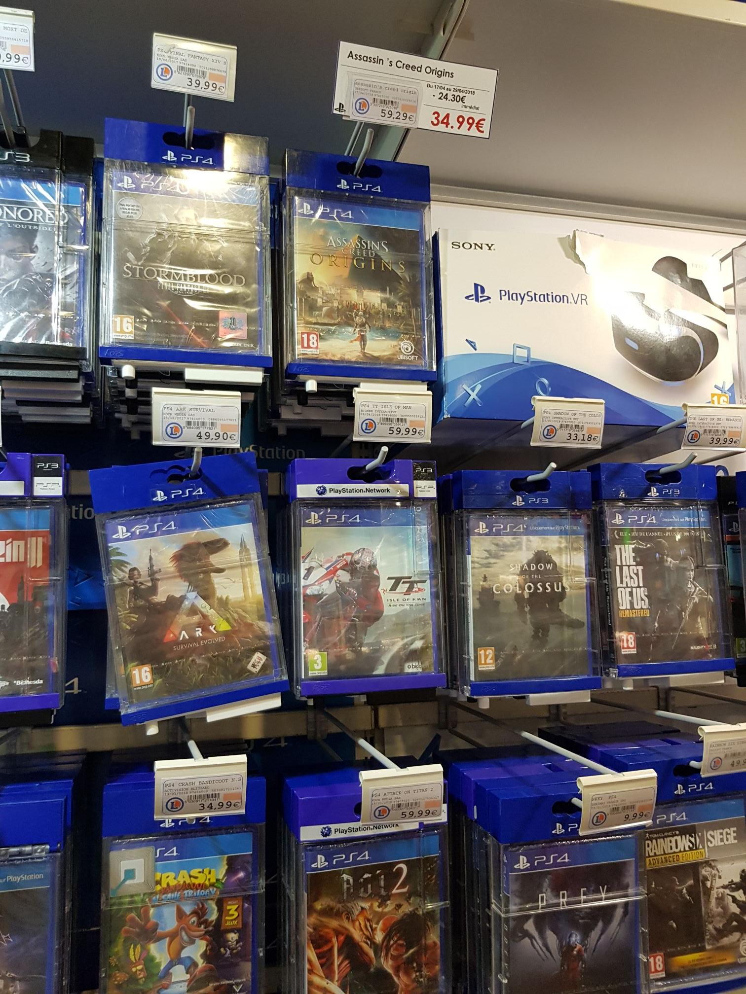 Prey 9,99€ et Assassin's Creed Origins - Montbéliard (25), Rochefort (17)