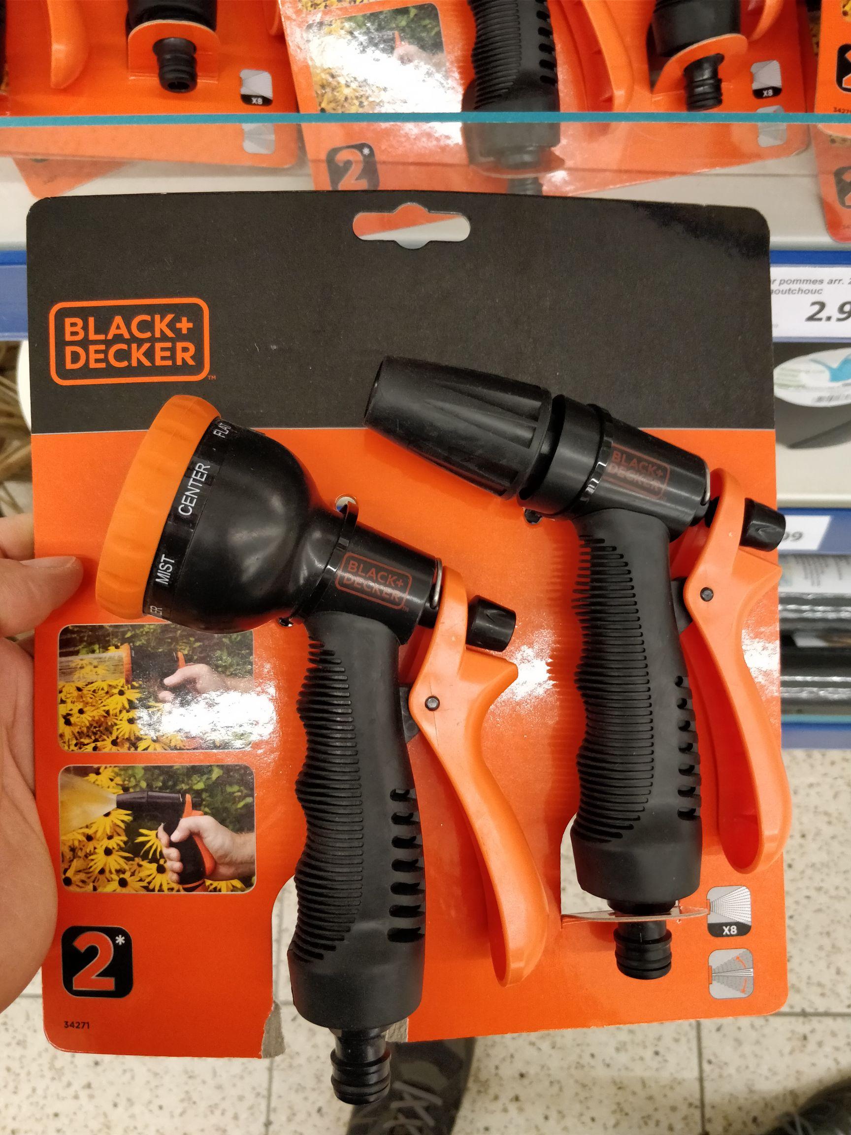 Douche et Pistolet d'arrosage Black+Decker