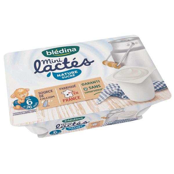 Lot de 2 packs de yaourts Blédina Mini-Lactés 6x55g (via BDR)