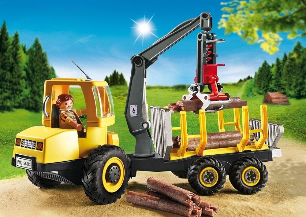 Jouet Playmobil Country Porteur avec Bucheron  n°6813